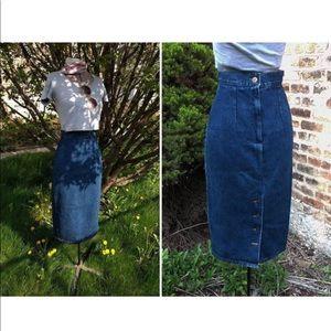 XS Denim High Rise Wiggle Skirt